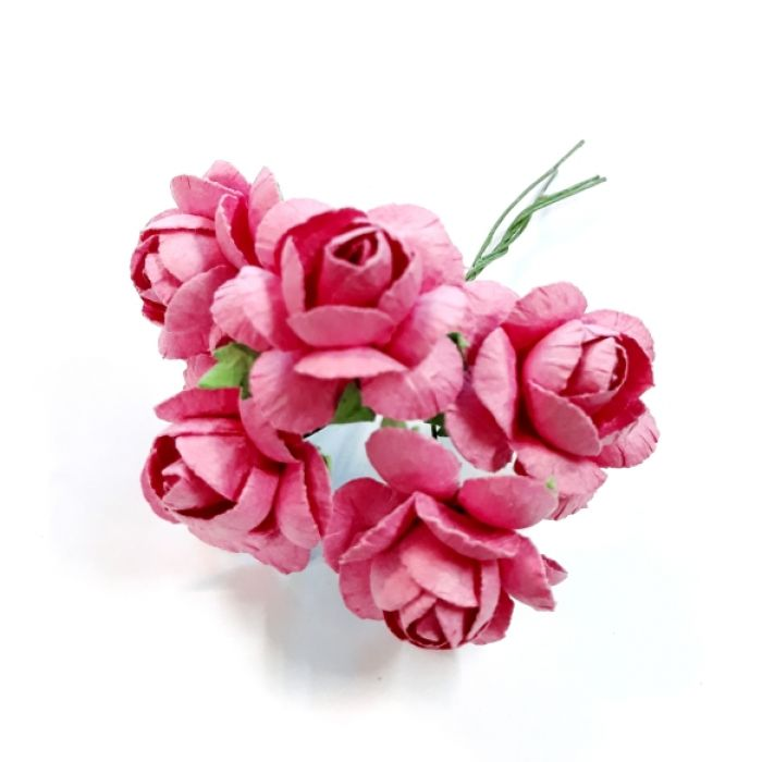 Розы амарант 25 мм для скрапбукинга