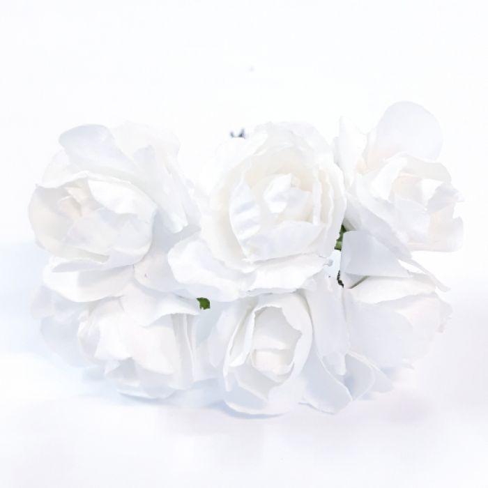 Розы белые 30 мм для скрапбукинга