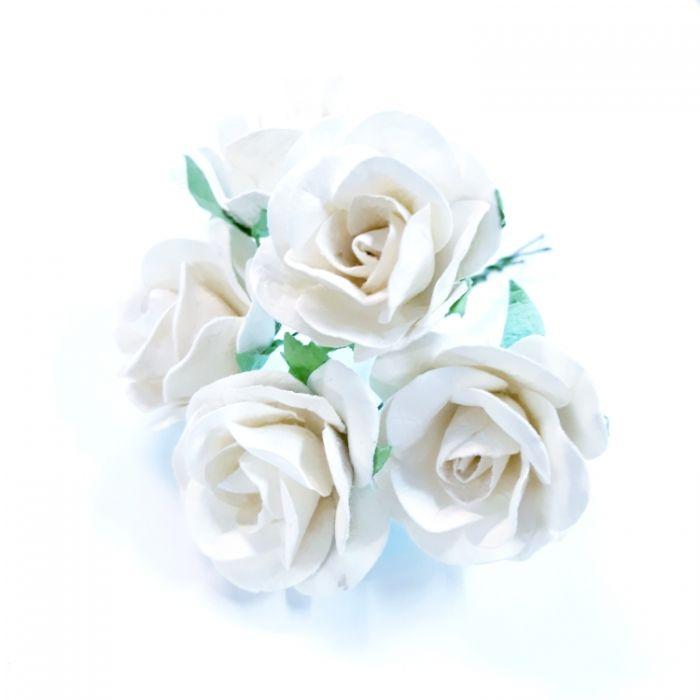 Розы белые 35 мм для скрапбукинга