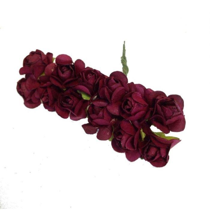 Розы бордовые для скрапбукинга