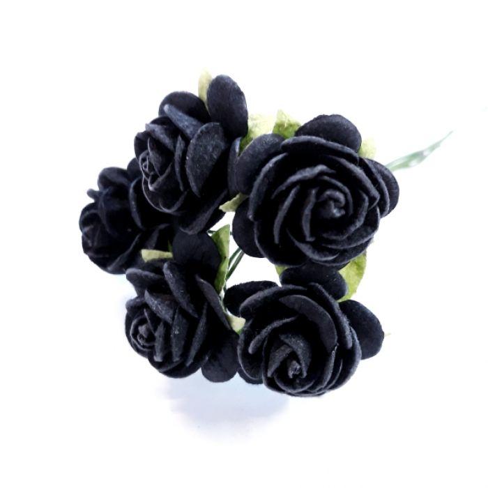 Розы Черный как смоль 20 мм для скрапбукинга