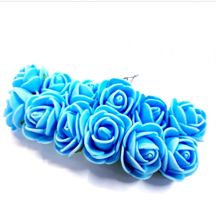 Розы голубые для скрапбукинга