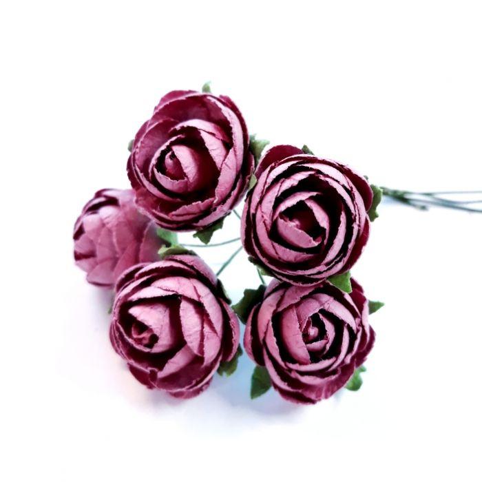 Розы индийские красные 25 мм для скрапбукинга