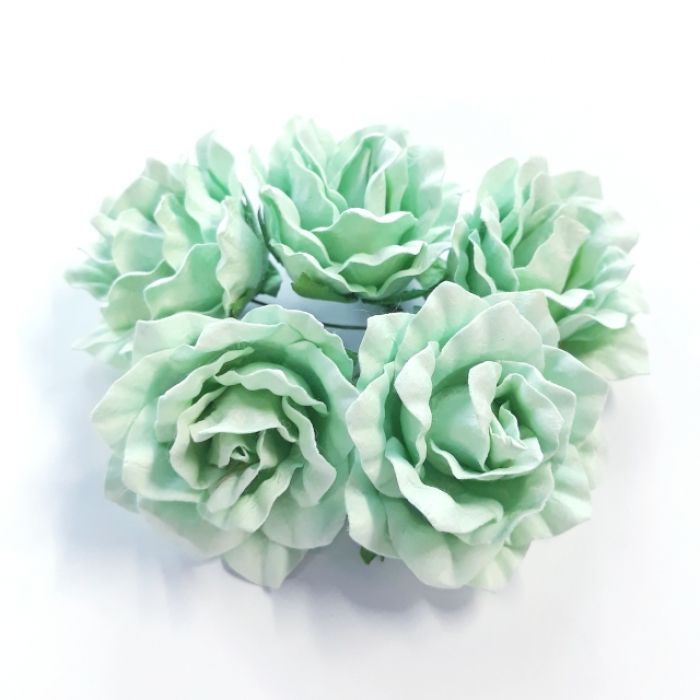 Розы мятные 40 мм для скрапбукинга