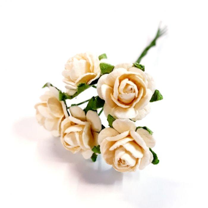 Розы слоновой кости 12 мм для скрапбукинга