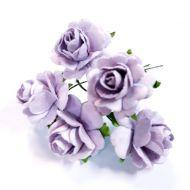 Розы светло-сиреневые 27 мм