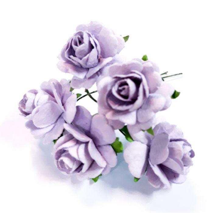 Розы светло-сиреневые 27 мм для скрапбукинга