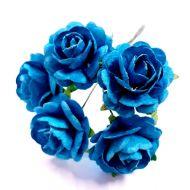 Розы ярко-бирюзовые 23 мм