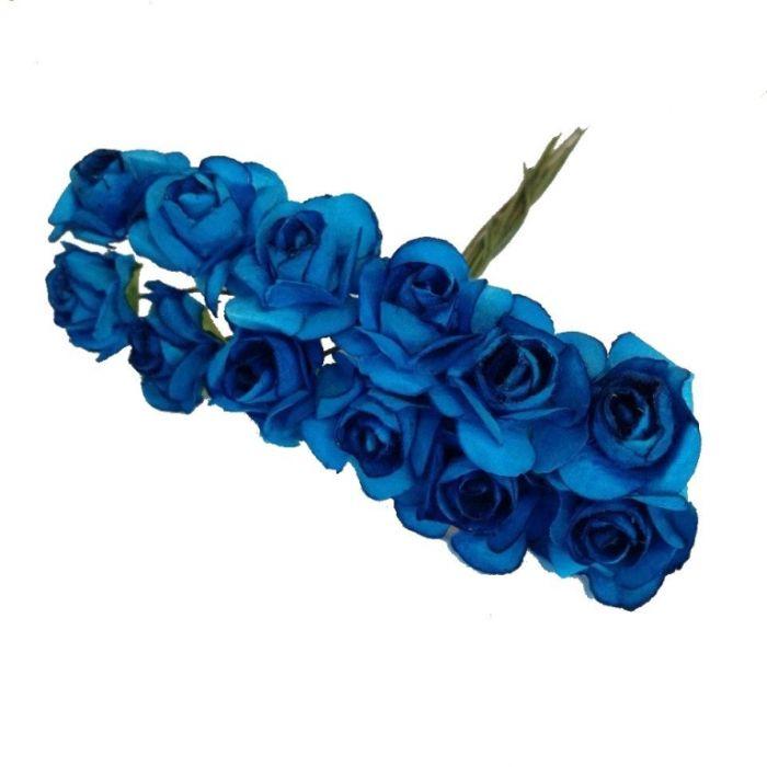 Розы ярко-синие для скрапбукинга