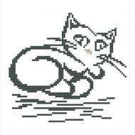 Схема белая кошка