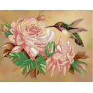 Схема колибри на розе