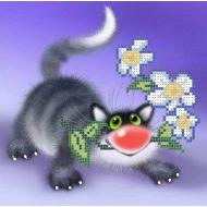 Схема кот с ромашками