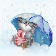 Схема котик с зонтиком