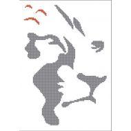 Схема силуэт лев
