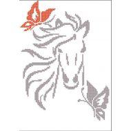 Схема силуэт  лошадь