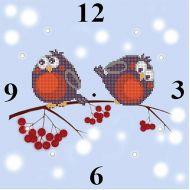 Схема часы снегири