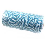 Шнур бело-голубой