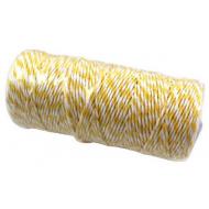 Шнур бело-жёлтый