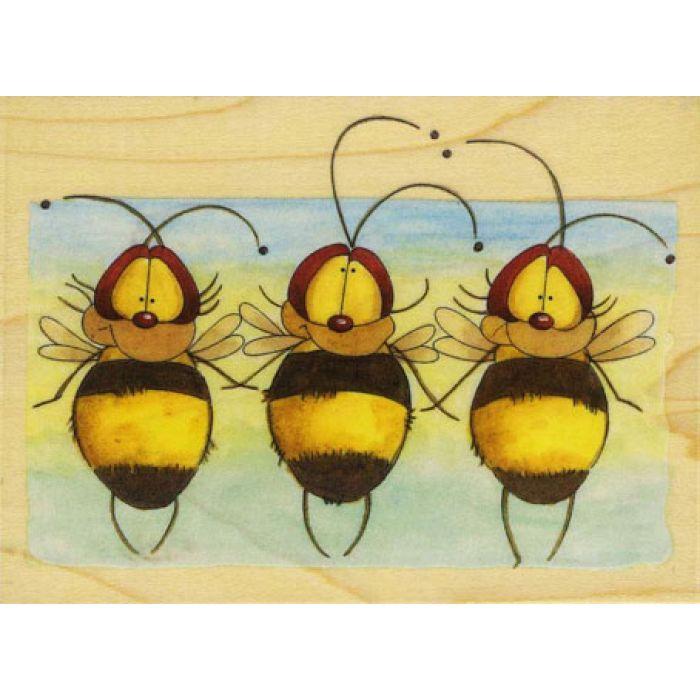 Штамп резиновый Пчёлы для скрапбукинга