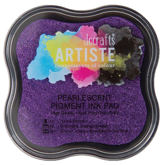 Штемпельная подушечка фиолетовый металлик для скрапбукинга
