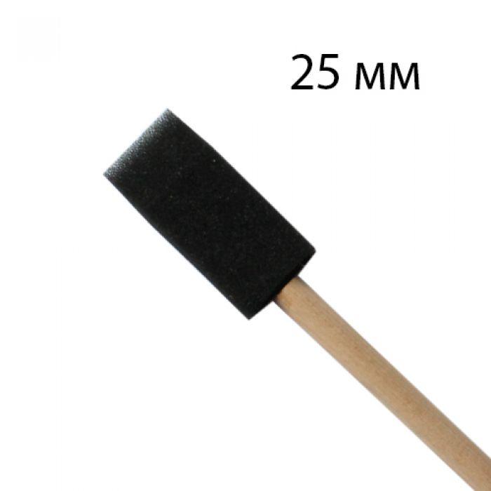 Спонж квадратный 2,5см с деревянной ручкой для скрапбукинга