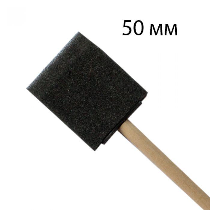 Спонж квадратный 5см с деревянной ручкой для скрапбукинга
