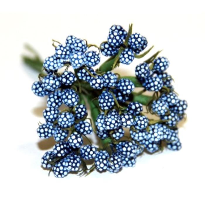 Темно-голубых ягодок букет для скрапбукинга
