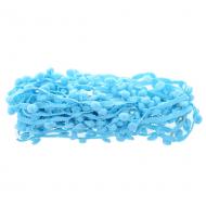 Тесьма шарики ярко-голубые