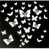 Трафарет бабочки 15х15 см