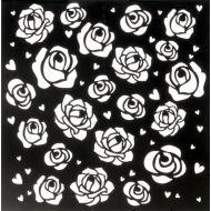 Трафарет розы 15х15 см