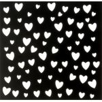 Трафарет сердечки 15х15 см