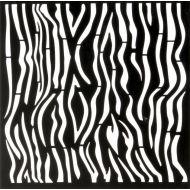 Трафарет зебра 15х15 см