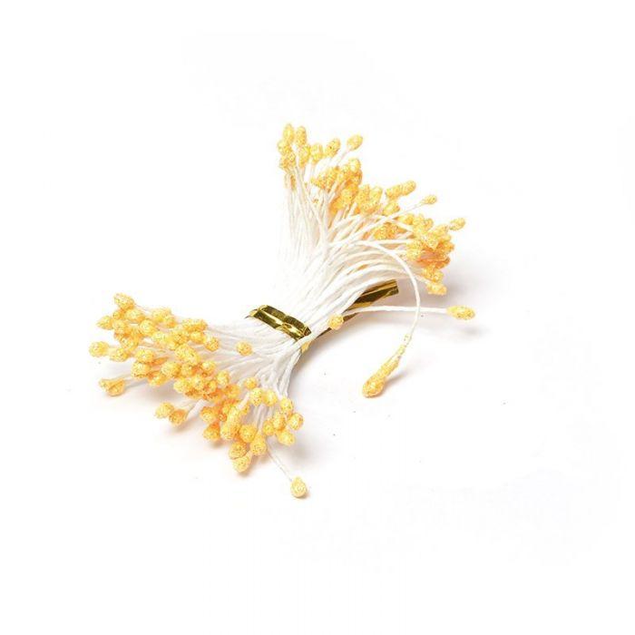 Тычинки бежевые с блеском 3 мм для скрапбукинга