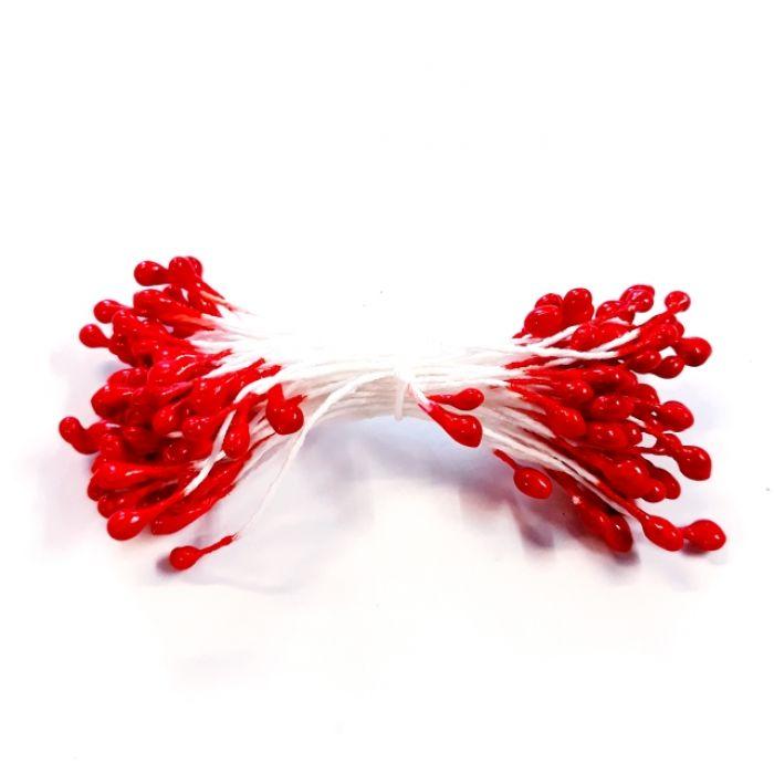 Тычинки красные 3 мм для скрапбукинга