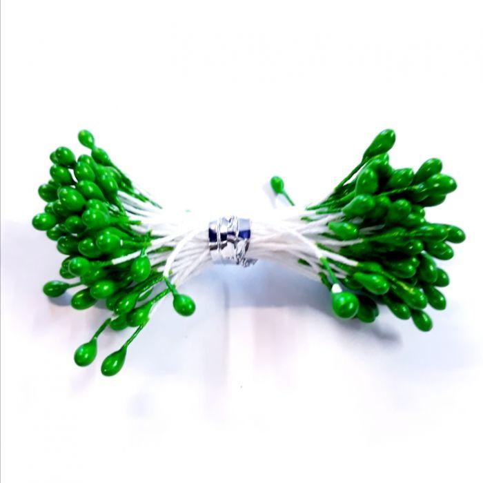Тычинки ярко-зеленые 3 мм для скрапбукинга