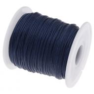 Тёмно-синий вощёный шнур