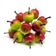 Яблоки красно-зеленые