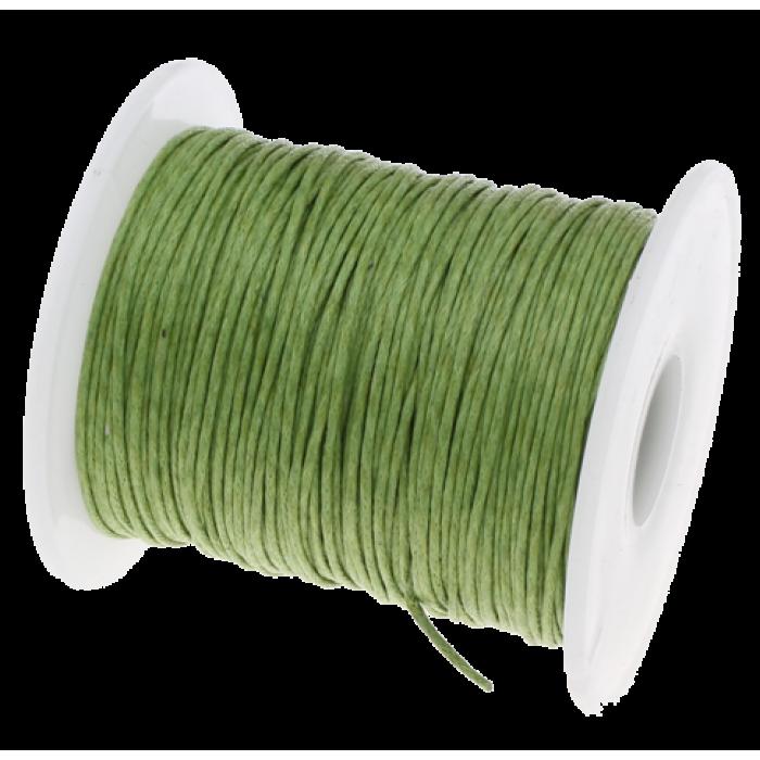 Зелёный вощёный шнур для скрапбукинга