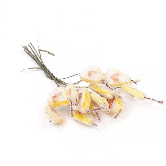 Желтые грушевые дольки в сахаре для скрапбукинга