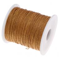 Жёлто-коричневый вощёный шнур