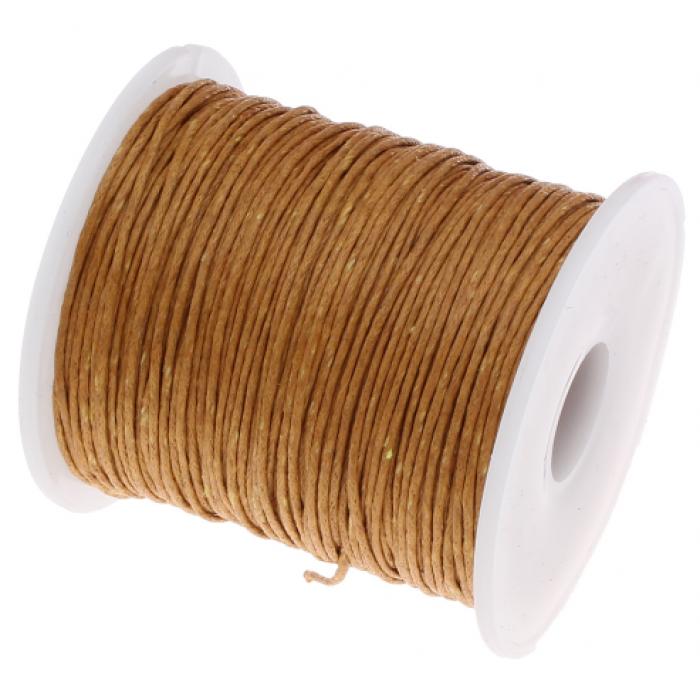 Жёлто-коричневый вощёный шнур для скрапбукинга