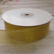 Лента металлизированная золотая 30 мм