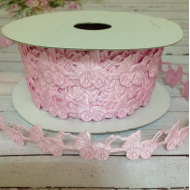 Лента розовые колясочки