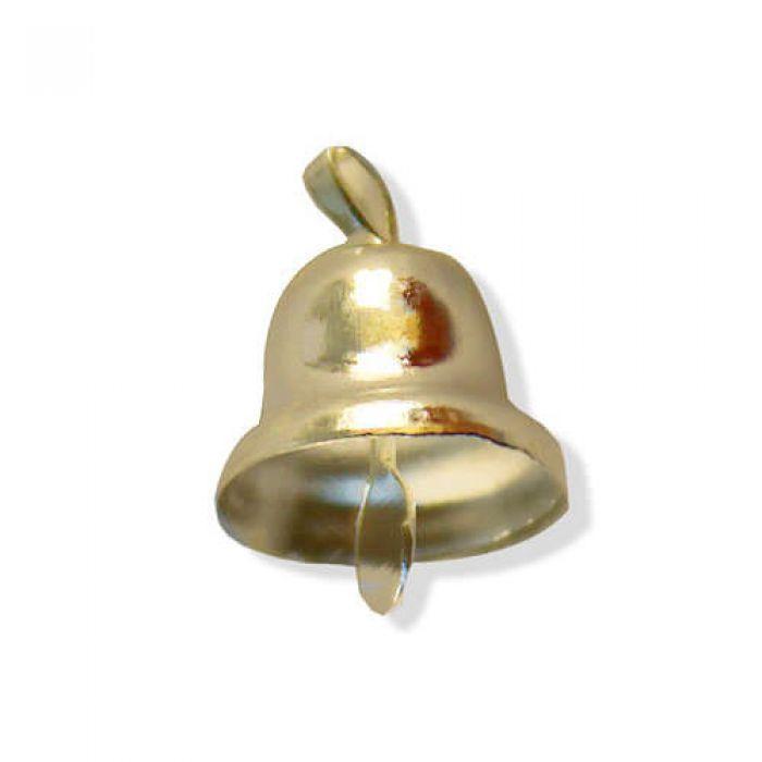 Колокольчик золотой 14 мм для скрапбукинга