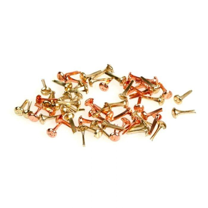 Набор брадсов винтики (золото-медь) 3 мм для скрапбукинга
