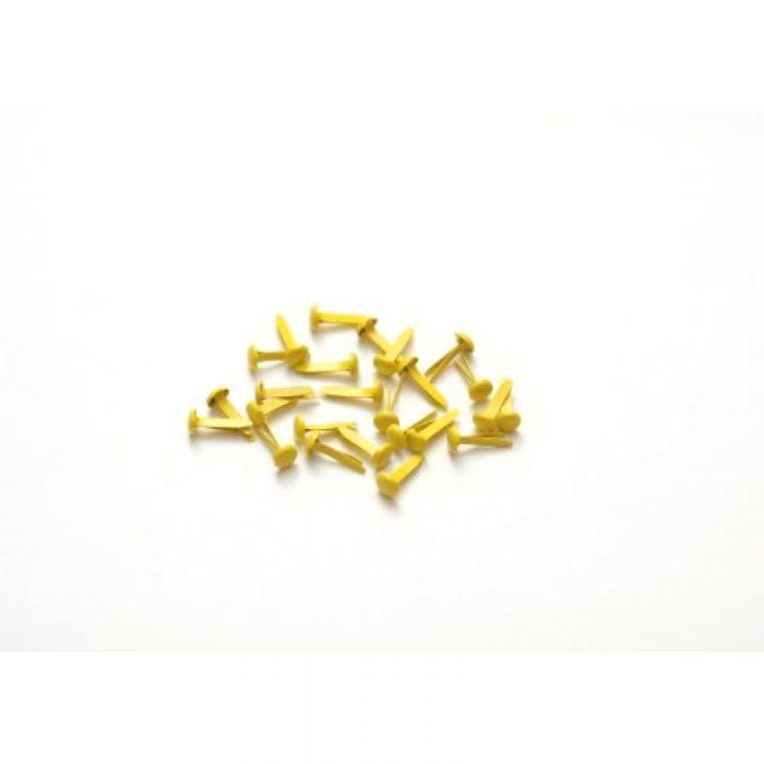 Жёлтые брадс (25 шт) для скрапбукинга