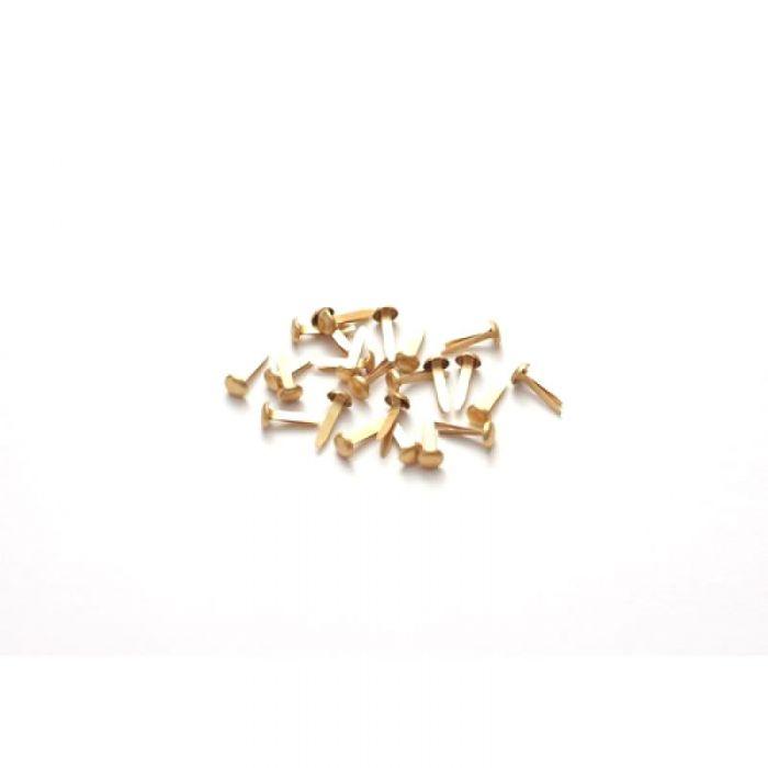 Золотые брадс (25 шт) для скрапбукинга