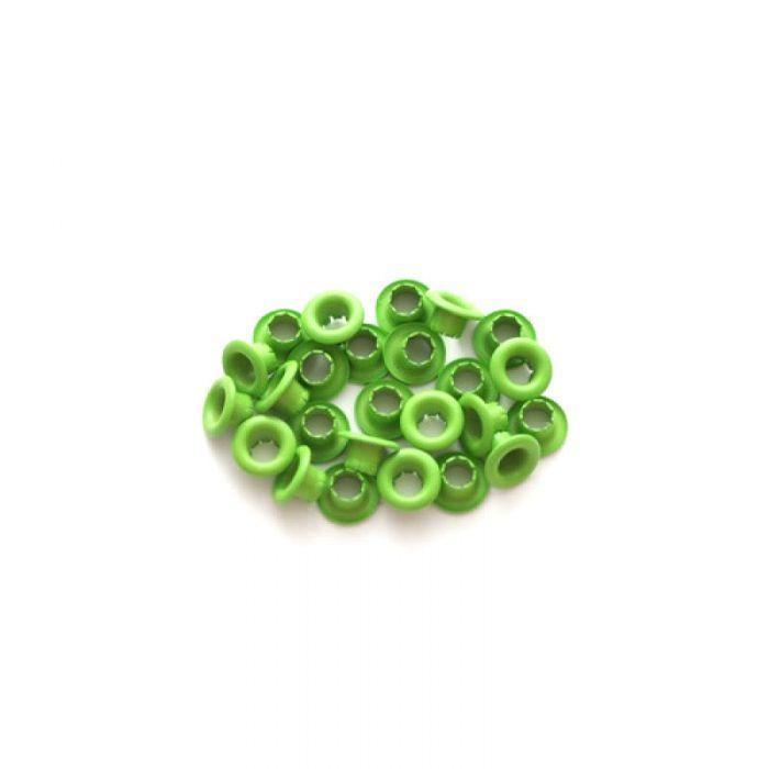 Зелёные люверсы 4,8 мм для скрапбукинга