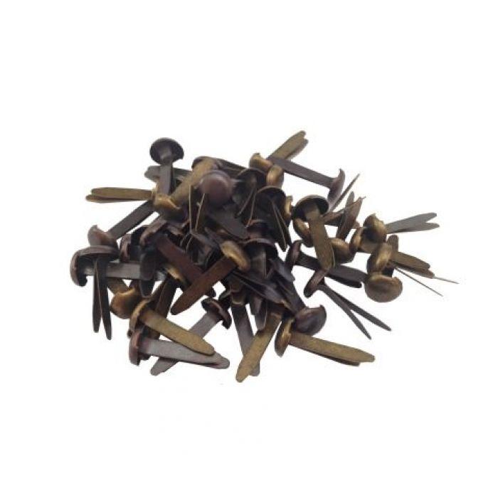 Золотые и бронзовые брадс в наборе (50 шт) для скрапбукинга