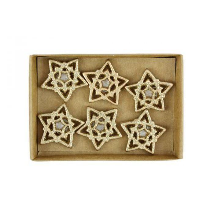 Ажурные позолоченые звёздочки для скрапбукинга